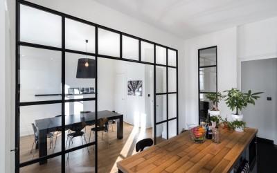 r novation cuisine sagne avec lot central appartement lyon 6 me stellati r novation. Black Bedroom Furniture Sets. Home Design Ideas