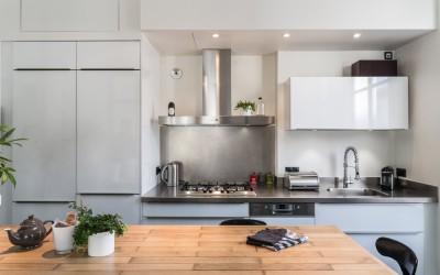 r novation cuisine sagne avec lot central appartement. Black Bedroom Furniture Sets. Home Design Ideas