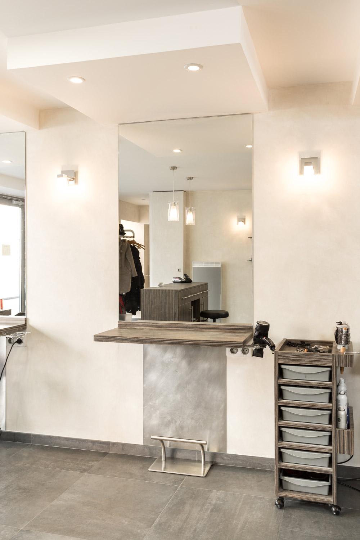 R novation du salon de coiffure welter fontaines sur for Salon renovation